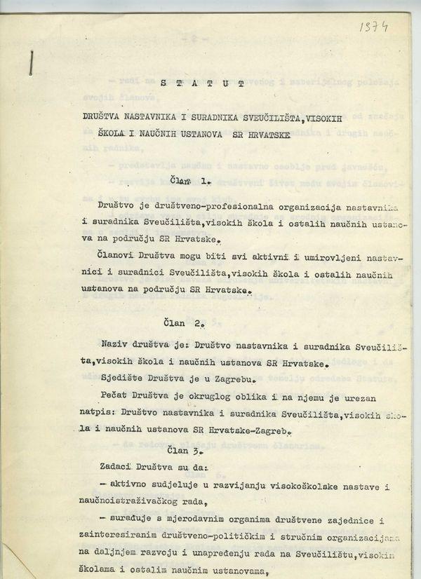 Pravila Društva iz 1974.